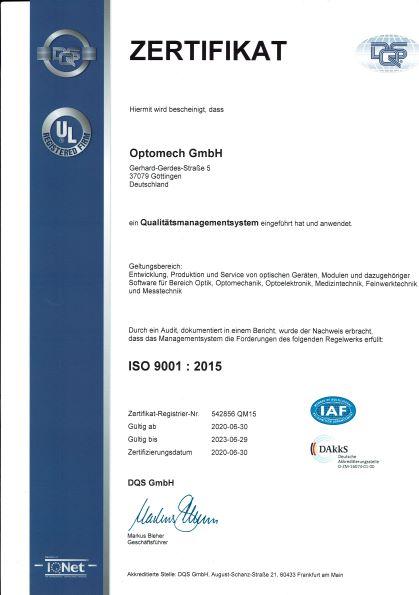 Optomechanics & Engineering firm